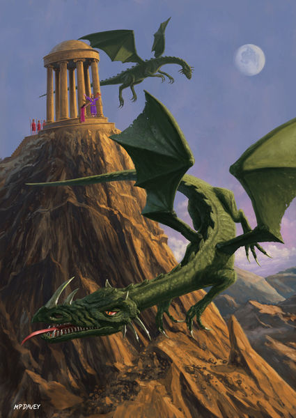 Dragon-and-temple-on-mountain
