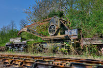 Railway Hand Crane and Match von Steve H Clark Photography