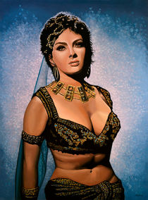 Gina Lollobrigida painting by Paul Meijering