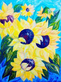Sunflowers Bathed in Light von eloiseart