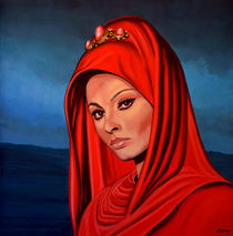 Sophia Loren painting by Paul Meijering