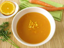 Karottencremesuppe mit Orange by Heike Rau