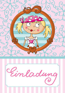 Einladung Pink Pirates® - Piratin Lulu von Gosia Kollek