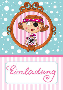Einldung Pink Pirates® - Piratin Lotta by Gosia Kollek