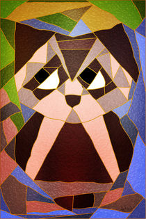 Stained Glass Owl von Angela Allwine