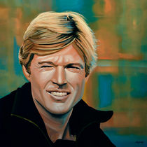Robert Redford painting by Paul Meijering
