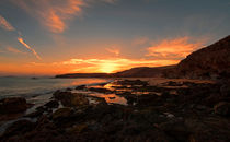 Papagayo Beach Sunset by Roger Green