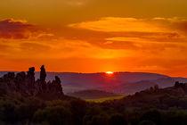 Sonnenuntergang an der Teufelsmauer im Harz von Daniel Kühne