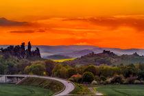 Teufelsmauer bei Neinstedt im Sonnenuntergang von Daniel Kühne
