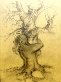 Waldgeist verpflanzt einen Baum von Manfred Schmidt