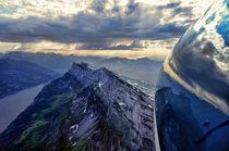Final glide above Churfirsten by Bert Schmelzer