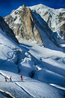 Bergsteiger im Mont Bloanc Gebiet von Torsten Kleint