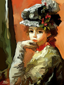 Lady with a hat by Tamy Moldavsky