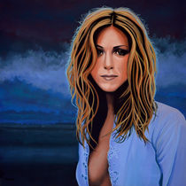 Jennifer Aniston painting by Paul Meijering
