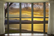 Golden Spring Twin Peaks Sunset  Bay Window View by James Insogna