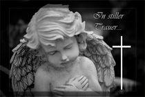In stiller Trauer Gedenkkarte / Grußkarte / Trauerkarte von Dennis Stracke