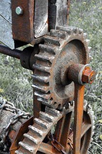 Zahnräder an der Bockwindmühle von Joachim P. Pudrel