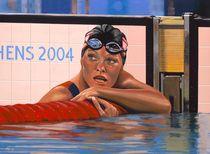 Inge De Bruin painting by Paul Meijering