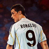 Cristiano Ronaldo painting by Paul Meijering