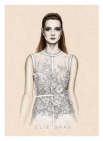 Elie Saab SS2014 illustration von Tania Santos