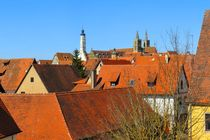 Über den Dächern von Rothenburg ob der Tauber by gscheffbuch