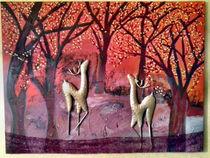 Roehrende Hirsche von Kirsten Aust