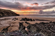 Putsborough Sands Sunset by Dave Wilkinson