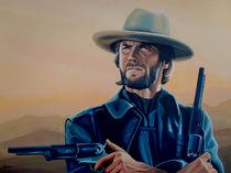 Clint Eastwood painting von Paul Meijering
