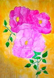 Kazanlak roses by nellyart