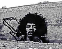 Jimi Hendrix Graffiti Tribute by Victor Cavalera