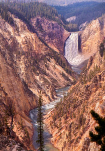 Yellowstone Falls And The Grand Canyon -- Digital Art by John Bailey