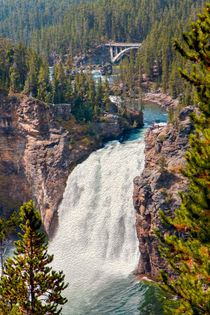 Yellowstone Upper Falls -- Digital Art von John Bailey