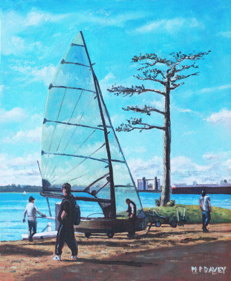 Southampton-sailing-at-weston-shore-southampton-water