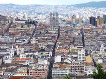 view over Quito von reisemonster