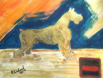 Dog Schnauzer First Grand Champion Giant Schnauzer Bacchus II by Richard W Linford