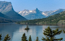 Summer at Glacier National Park -- Digital Art von John Bailey