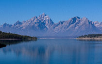 Teton Peaks -- Digital Art von John Bailey