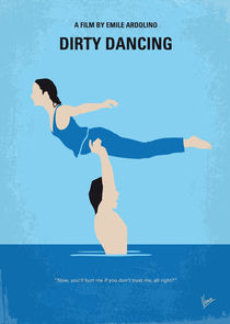 No298 My Dirty Dancing minimal movie poster von chungkong