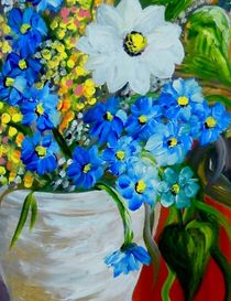 Flowers in a White Vase von eloiseart