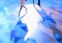 Ballroom dance floor abstract 3, digital painting by Christina Rahm