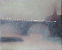 Lights on Paris bridge by Christina Rahm
