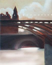 Paris bridge in morning light by Christina Rahm