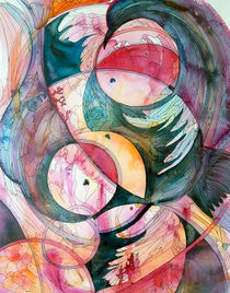 Circles and feathers by Christina Rahm