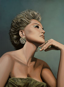 Sharon Stone painting von Paul Meijering