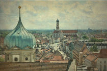 Augsburg von oben von Marie Luise Strohmenger