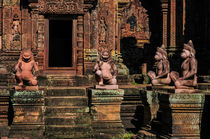 Stone Relief Sculptures at Banteay Srei, Cambodia by Luciano Lepre