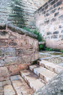 Old town stairs Palma de Mallorca by Christina Rahm