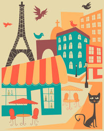 PARIS CAFE von Jazzberry  Blue