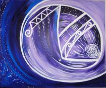 Kristallin Violettes Licht by Karin Riener