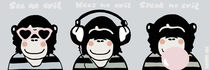 3 Wise Monkeys by Marisa Rosato